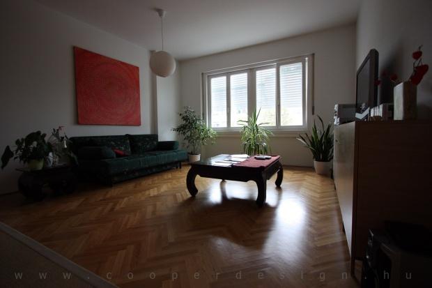 garzonlakás belsőépítészete, nappali
