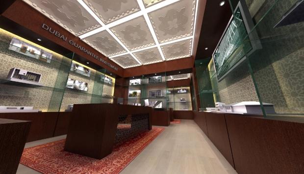 Iroda-hálózat belsőépítészetéről 3D grafika