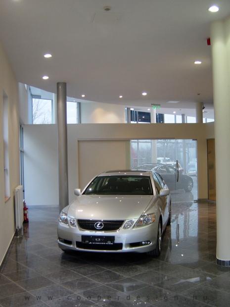 Lexus Buda autószalon belsőépítészete 44