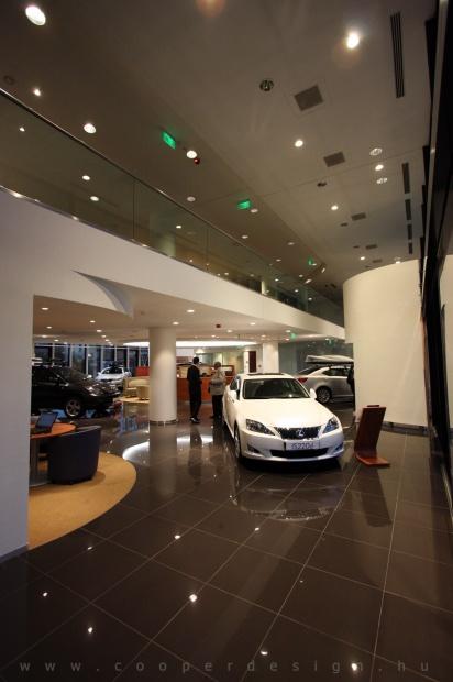 Lexus Pest autószalon belsőépítészet 4