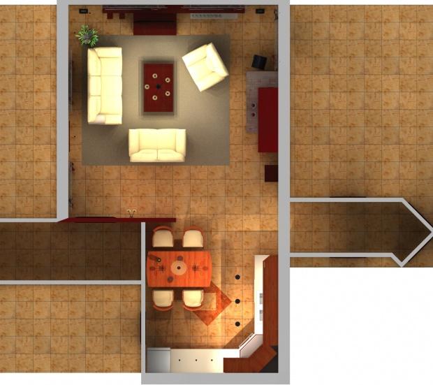 Családi ház belsőépítészeti felújításának alaprajza