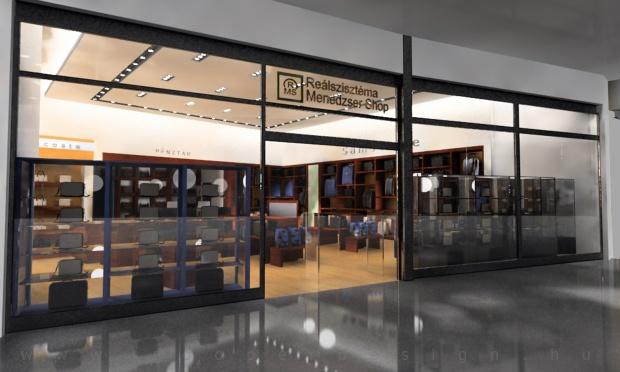 Reálszisztéma Menedzser Shop - bejárati portál látványterve
