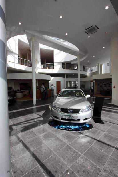 Lexus Buda autószalon belsőépítészete 37