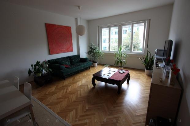 garzonlakás belsőépítészete, nappali 2