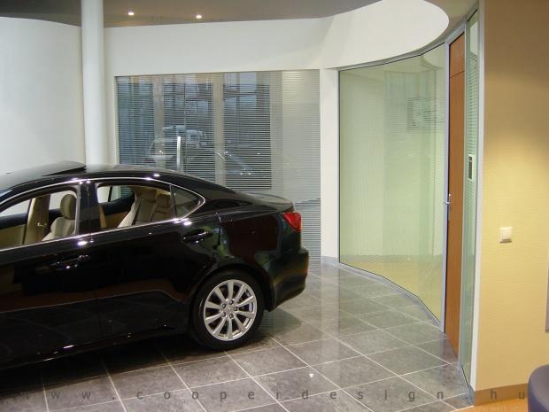 Lexus Buda autószalon belsőépítészete 8