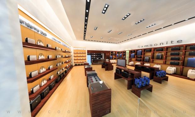 Reálszisztéma Menedzser Shop,az üzlet átnézeti látványterve