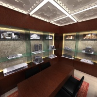 Ingatlaniroda belsőépítészeti látványterve - tárgyaló makettekkel