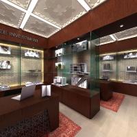 Ingatlaniroda-hálózat belsőépítészeti terveinek vizuális bemutatása
