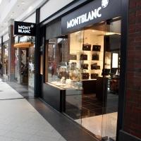 Montblanc márkabolt belsőépítészete kirakati portál 2