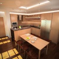 egyedi konyhabútor látványterve az étkező felől