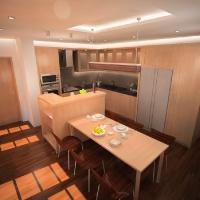 egyedi konyhabútor látványterve az étkező felől 2
