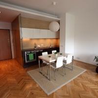 garzonlakás belsőépítészete, étkező-konyha